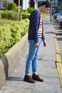 Dark-brown-hugo-boss-boots-light-blue-primark-jeans-navy-guess-watch