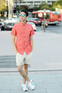 Salmon-bershka-shirt-cream-bershka-shorts-aquamarine-asos-sunglasses