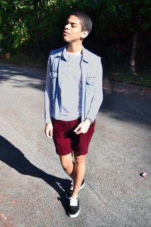 DIY vest - Primark pants - Bershka sweatshirt - Vans sneakers