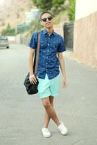 aquamarine Forever 21 shorts