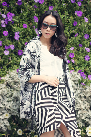 Bershka jacket - bulgari sunglasses - C&M skirt