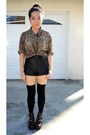 Coltrane-jeffrey-campbell-boots-leather-shorts-thigh-high-socks