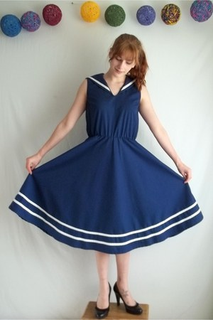 sailor cotton vintage dress