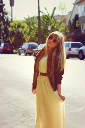 vintage dress - vintage jacket