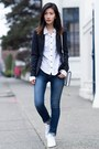 Blue-j-brand-jeans-navy-theory-blazer-white-adidas-sneakers