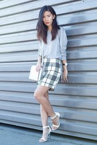 silver Missguided top - white Alexander Wang bag - white Missguided skirt
