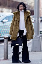 army green banana republic coat - white Equipment sweater - black Zac Posen bag