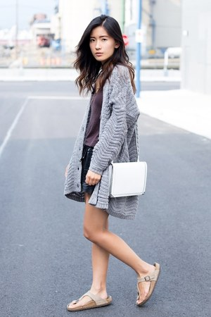 silver Urban Outfitters cardigan - white Alexander Wang bag
