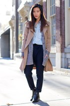 heather gray Urban Outfitters cardigan - camel MIAMASVIN coat