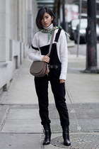 black Mavi jumper - black sam edelman boots - white Equipment sweater