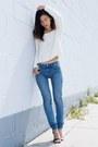 Blue-zara-jeans-white-nasty-gal-sweater