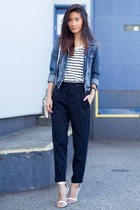 navy American Eagle jacket - navy Zara pants