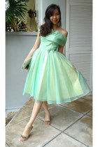 1950s chiffon vintage dress