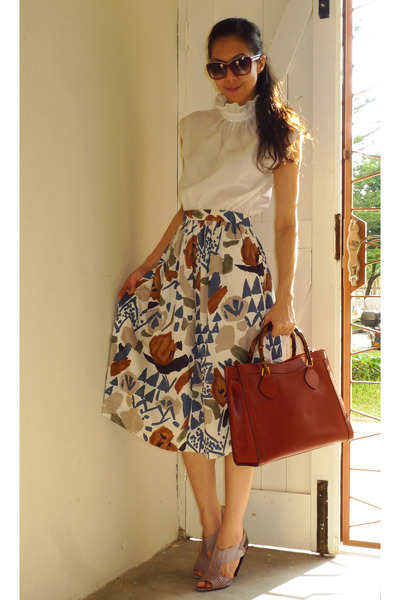 Brown Vintage Cotton Skirt Skirts Vintage Cotton Dress Dresses ...
