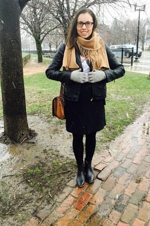 black madewell boots - black Zara jacket