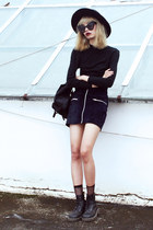 black Dr Martens boots - black LamodaUK socks - black chictopia shop sunglasses