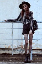black Missguided boots - black Choies shorts - navy Choies top