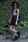 White-blackfive-top-black-blackfive-skirt