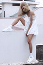 White-sheinside-dress-white-blackfive-sandals