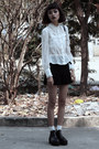 Black-young-hungry-free-boots-black-thrifted-skirt-white-thrifted-blouse