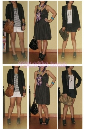 Zara blazer - random store - HK dress - Vivo City scarf - Bugis St shoes