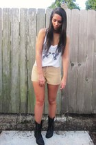Bakers boots - lace up Forever 21 shorts - top