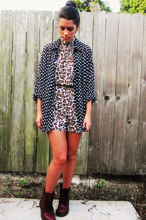 Sparkle & Fade romper - Dr Martens boots - Forever 21 top