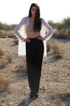 ivory Waisted Vintage jacket - black Waisted Vintage pants