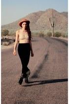 Waisted Vintage skirt - lita boots Jeffrey Campbell boots