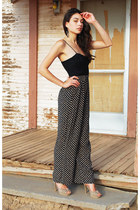 black Waisted Vintage pants