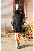 black Waisted Vintage dress