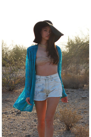 aquamarine Waisted Vintage jacket - light blue Waisted Vintage shorts