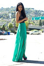 Pleated-slit-lush-skirt-laced-rvca-bodysuit