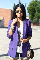 pony hair Jeffrey Campbell bag - purple purple H&M blazer