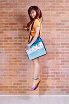 amethyst tri-tone Suelas flats - aquamarine Punchdrunk Panda bag