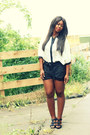 Black-batwing-miso-shirt-white-asos-shorts-black-sandals