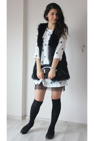 ivory cotton OASAP dress - white cotton Oasapcom dress