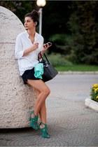 green zara shoes
