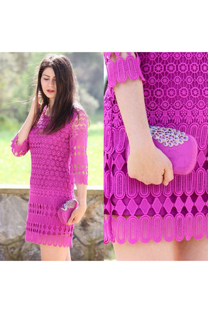 hot pink OASAP dress