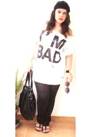 Bershka t-shirt - BeYu sunglasses - Parfois bag