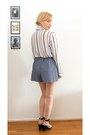 Sky-blue-diy-shorts-white-diy-blouse-h-m-heels