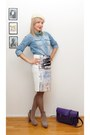 Light-blue-monki-skirt-white-hm-trend-skirt-ivory-hat