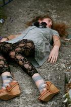 Mango shoes - avoca leggings - DKNY dress - Accessorize necklace