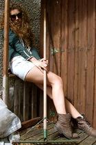 River Island boots - Noa noa blazer - River Island t-shirt - Miss Selfridge neck