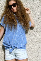 Gant shirt - Topshop shorts - Ray Ban sunglasses - Topshop shoes