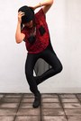 Black-hat-h-m-hat-black-shiny-leggings-american-apparel-leggings