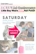 Controversy: Little Boy Wearing Pink Nail Polish!