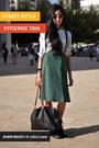green midi vintage skirt