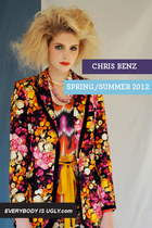 red floral Chris Benz blazer