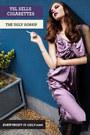 light purple silky dress